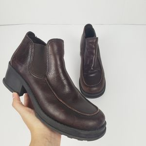 Vintage Mia Chunky Platform Ankle Booties